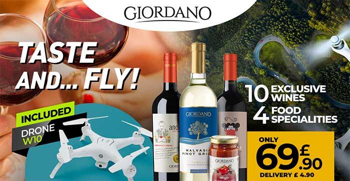 Giordano Vini Wine Affiliate campaign with drone included